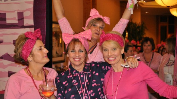 home foundation pink pajama party